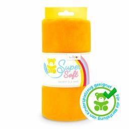 Kullaloo Plüschstoff Shorty uni 1,5mm orange