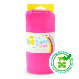 Kullaloo Plüschstoff Shorty uni 1,5mm pink