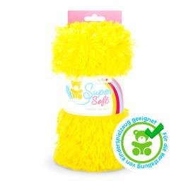 Kullaloo Plüschstoff Shaggy 20mm gelb