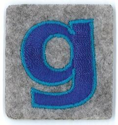 Applikation Fun Letter 'Alphabet Boys' G