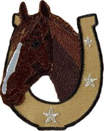 Motif to Iron On Horsehead With Horseshoe