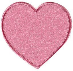 Applikation Herz, Glitter