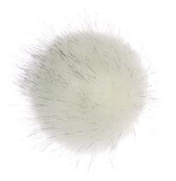 Faux Fur Pom Poms Artic Fox
