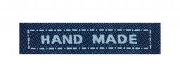 Applikation Weblabel Hand Made Blau