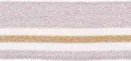 Bündchen 60mm Lurex silber