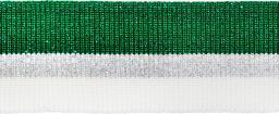 Bündchen 40mm grün/silber/weiß
