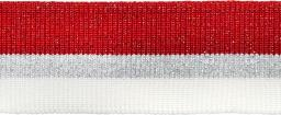 Bündchen 40mm rot/silber/weiß
