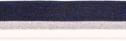 Bündchen 40mm blau/silber/weiß