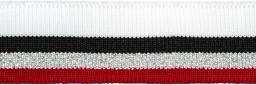 Bündchen 30mm rot/silber/schwarz