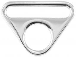 O-Ring with bridge silver 40mm