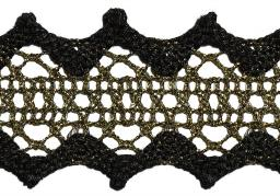 Bobbin Lace 38Mm With Lurex Threads