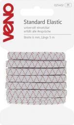 Standard Elastic SB 6mm weiß
