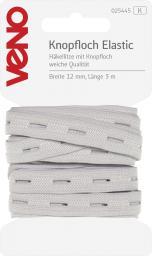Knopfloch Elastic SB 12mm weiß