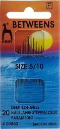 Nähnnadeln halblang ST 5-10 silber