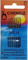 Sticknadeln mit Spitze ST 18 silber