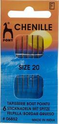 Sticknadeln mit Spitze ST 20 silber