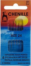 Sticknadeln mit Spitze ST 24 silber