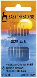 Blinden-Nadeln mit Spitze ST 4-8 silber
