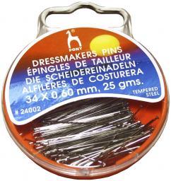 Dressmarkers Pins 0,60 x 34 mm silver