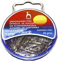 Dressmarkers Pins 0,65 x 26 mm silver