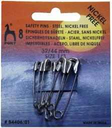 Safety Pins Steel 32-44mm