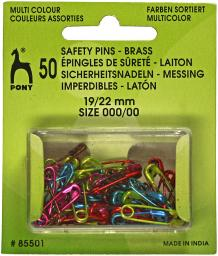 Safety Pins Brass coloured asstd