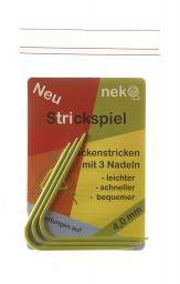 Neko Strickspiel 4,00mm mit 3 Nadeln