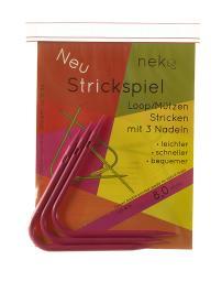 Neko Strickspiel 8,00mm mit 3 Nadeln