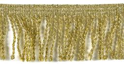 Schlaufenfranse 40mm gold/silber