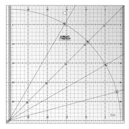 Patchwork Ruler 30x30cm