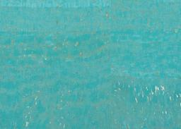 Cork Fabric surface ocean blue