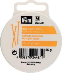 Ball point pins steel 30x0.60 si-col 25g