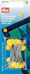 Quilt-Stecknadeln 0,60 x 50 mm gelb m. Blumenkopf