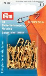 Sicherheitsnadeln MS 19/23/27 mm goldfarbig