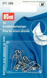 Saf pin dress shield br 19mm si-col 10pc