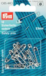 Safety pins H&T 23mm si-col         16pc