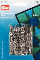 Safety pins H&T 38mm si-col         75pc