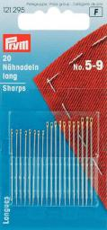 Sew ndls sharps H&T 5-9 go-col     20pc