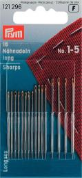 Sew ndls sharps H&T 1-5 go-col     16pc
