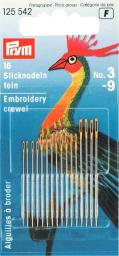 Crewelnadeln ST 3-9 silberfarbig/goldfarbig
