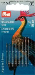 Crewelnadeln ST 5-10 silberfarbig/goldfarbig