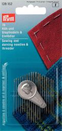 Sewing/Darning ndl ass 19pc+threader 1pc