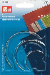 Polsterernadeln gebogen ST 2,4,5 silberfarbig
