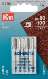 Sew mach Ndls Leather 130/705 80-100 5pc