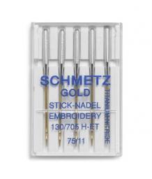 Nähmaschinennadel GOLD Sticken H-ET 75+90