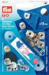 NF-Hosenhaken und Stege ST 13 mm silberfarbig/brüniert