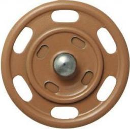 Annähdruckknopf 25mm beige