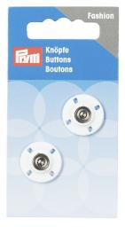 Sew on buttons 18mm white