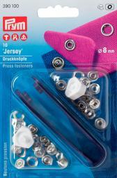 NF-Druckknopf Jersey MS 8 mm silberfarbig