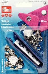 NF-Druckknopf Jersey gl. Kappe MS 10 mm silberfarbig
